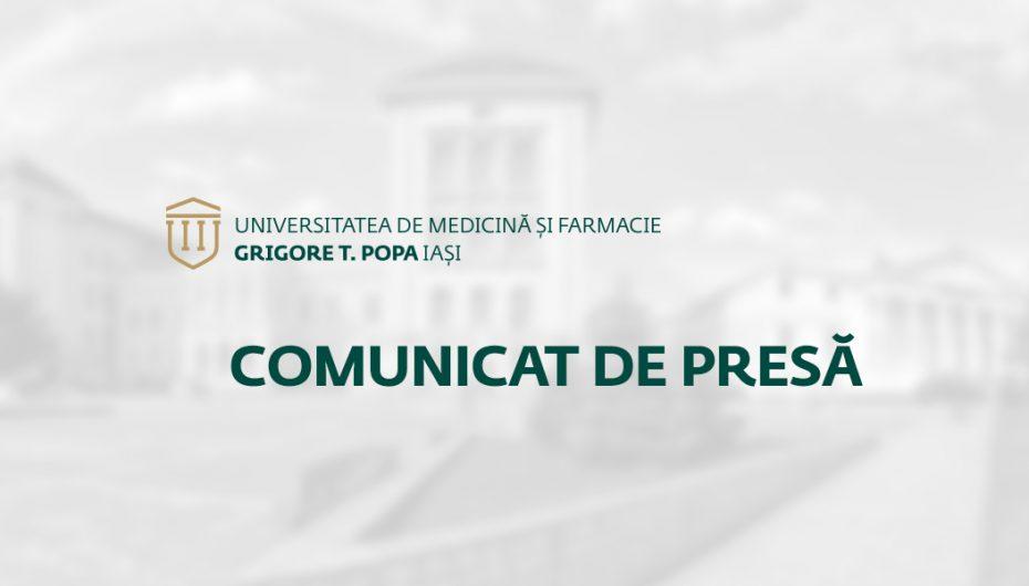 """COMUNICAT DE PRESĂ: Admiterea 2018 la Universitatea de Medicină și Farmacie """"Grigore T. Popa"""" Iași"""
