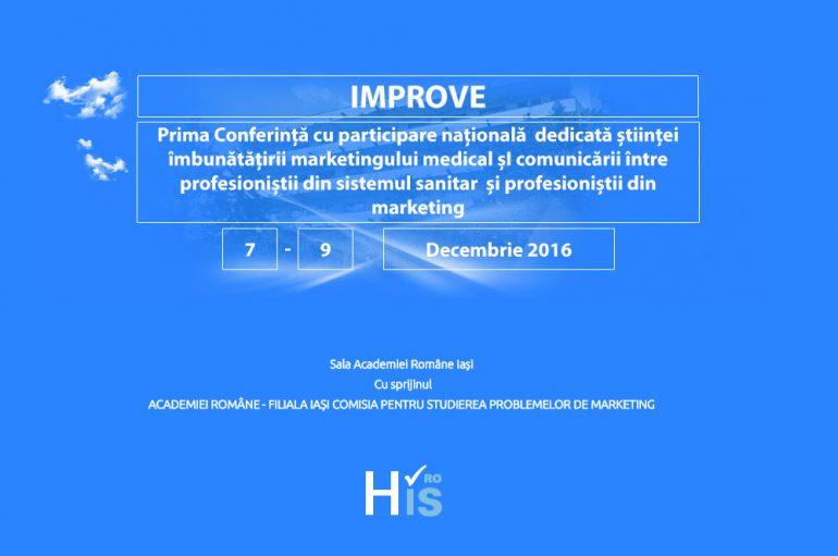 Prima conferinta din Romania dedicata stiintei imbunatatirii marketingului sanitar