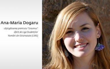 Studentă la UMF Iasi, castigatoare la Gala Ligii Studentilor Romani din Strainatate
