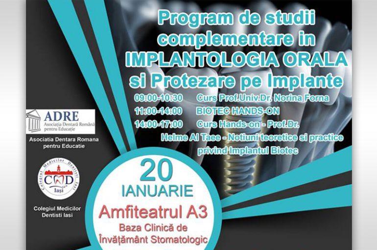 Program de studii complementare in implantologia orală și protezarea pe implante