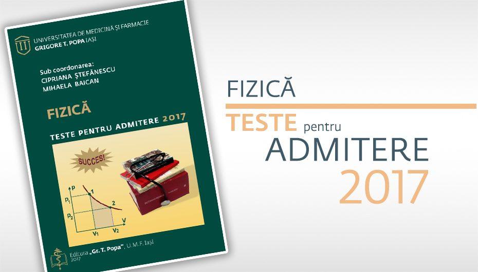 Teste pentru Admiterea 2017