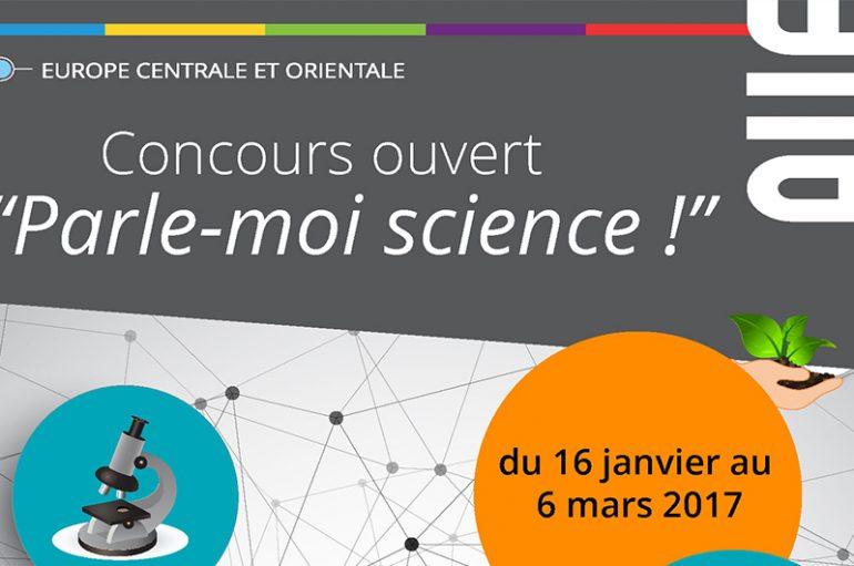 """""""Parle-moi science!"""" – concurs pentru studenți organizat de Agenția Universitară a Francofoniei"""