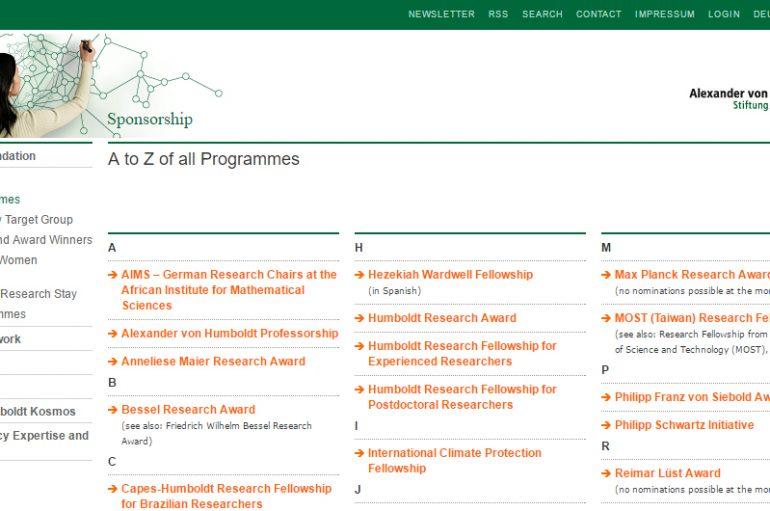 Burse şi premii Humboldt pentru cercetători