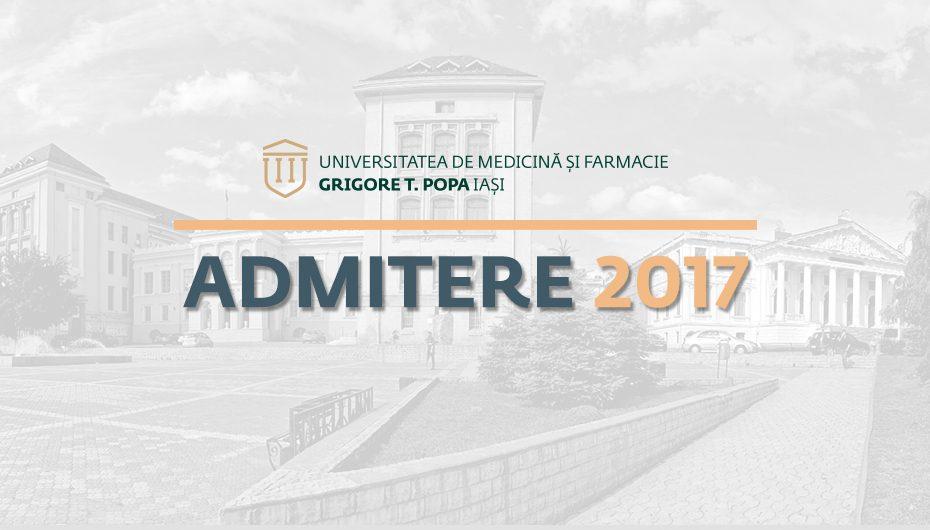 A doua sesiune de admitere la UMF Iași: calendarul concursului, numărul de locuri rămase