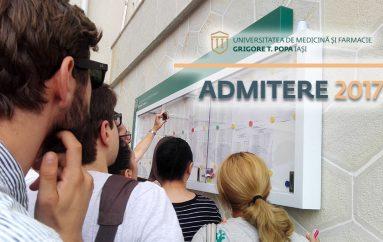 Rezultatele concursului de admitere la UMF Iași, sesiunea iulie 2017