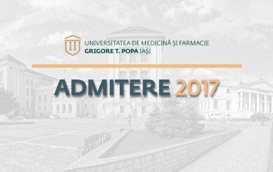 Admitere UMF Iași, sesiunea iulie 2017: 2022 de înscriși