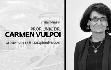 IN MEMORIAM PROF.UNIV.DR CARMEN VULPOI (22 noiembrie 1956 – 22 septembrie 2017)