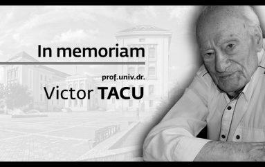 In memoriam prof. univ. dr. Victor Tacu