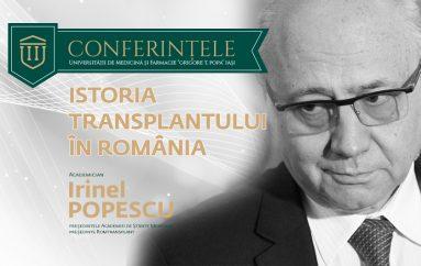 """Acad. Irinel Popescu: """"Transplantul a apărut ca singura soluție de a reda nu numai sănătatea, dar chiar viața unor oameni"""""""