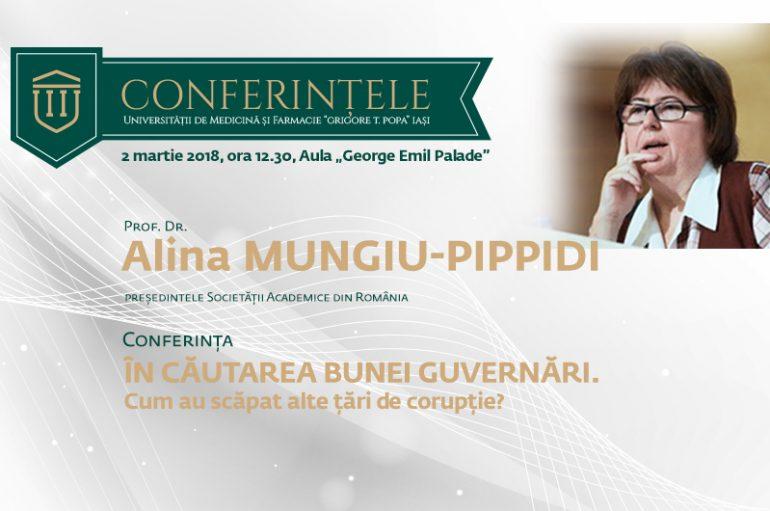 Alina Mungiu-Pippidi conferențiază la UMF Iași