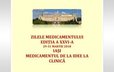 """Medicamentul de la idee la clinică – a XXVI-a ediție a Conferinței """"Zilele Medicamentului"""""""