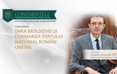 """Conferințele UMF """"Grigore T. Popa"""": Academicianul Ioan-Aurel Pop – Țara Moldovei și formarea statului național român unitar"""