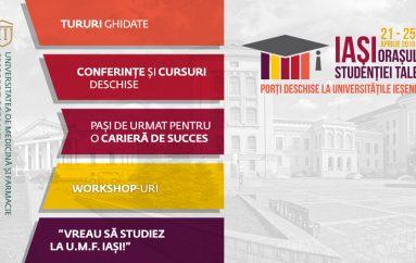 Conferințe și cursuri deschise, work-shop-uri și tururi ghidate la Zilele Porților Deschise la UMF Iași