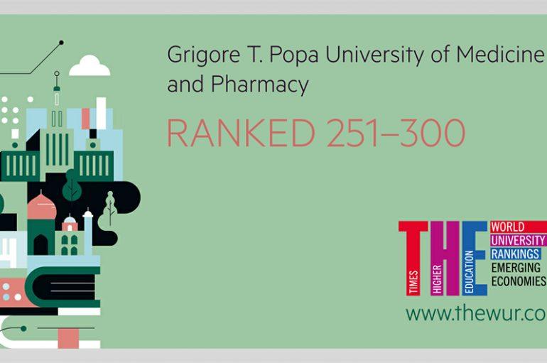 UMF Iași, singura instituţie de învăţământ medical din România în clasamentul  Times Higher Education (THE) Emerging Economies University Rankings 2018