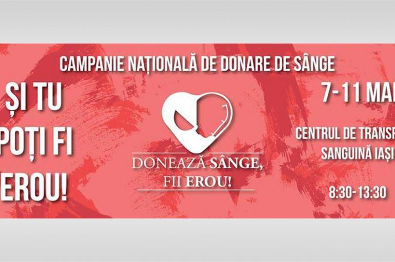 """Campanie de Donare de Sânge, sub deviza """"Donează Sânge, Fii Erou!"""""""
