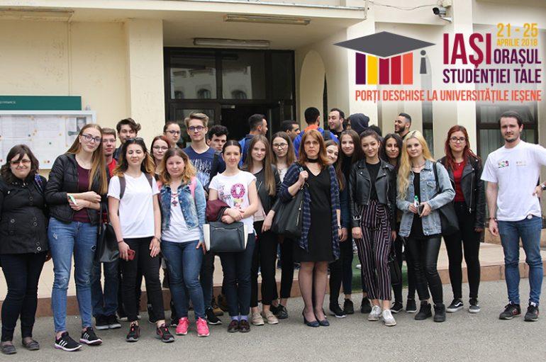 Peste 1500 de elevi au vizitat UMF Iași, la Zilele Porților Deschise