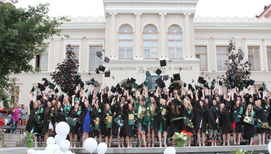 Spectacolul bucuriei la UMF Iași: celebrarea promoției 2018