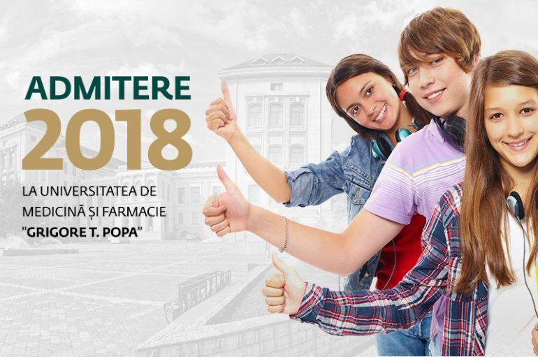Admitere la UMF Iași, sesiunea septembrie 2018