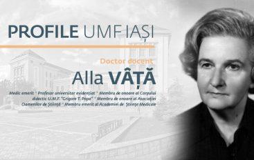 IN MEMORIAM Prof. univ. dr. Alla Vâță (1920-2018)