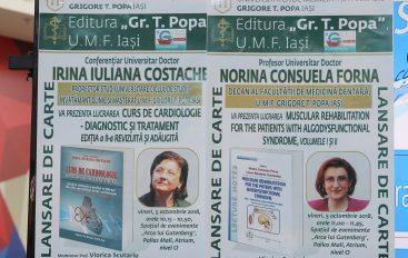 """Lansări de carte ale Editurii """"Gr. T. Popa"""" Iași la Târgul de Cărți și Arte Frumoase ARCA LUI GUTENBERG"""