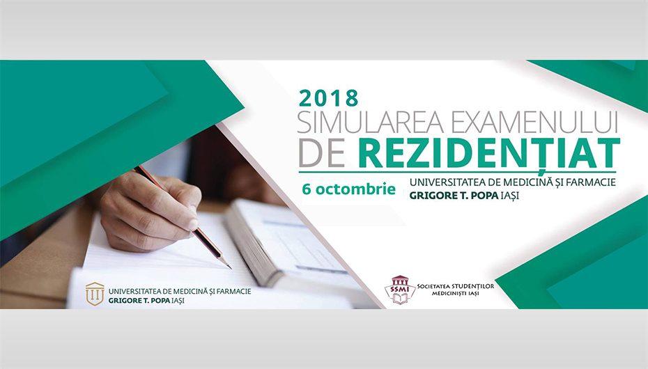 Simularea concursului de rezidențiat: 6 octombrie 2018