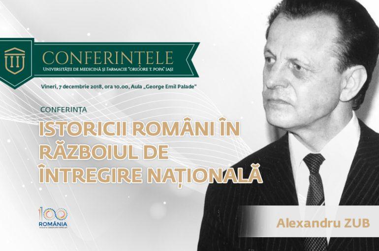Academicianul Alexandru Zub, invitat de onoare la deschiderea festivă a Zilelor UMF