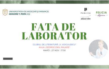 """Clubul de literatură """"V. Voiculescu"""": Lansare-lectură a cărții """"Fata de laborator"""""""