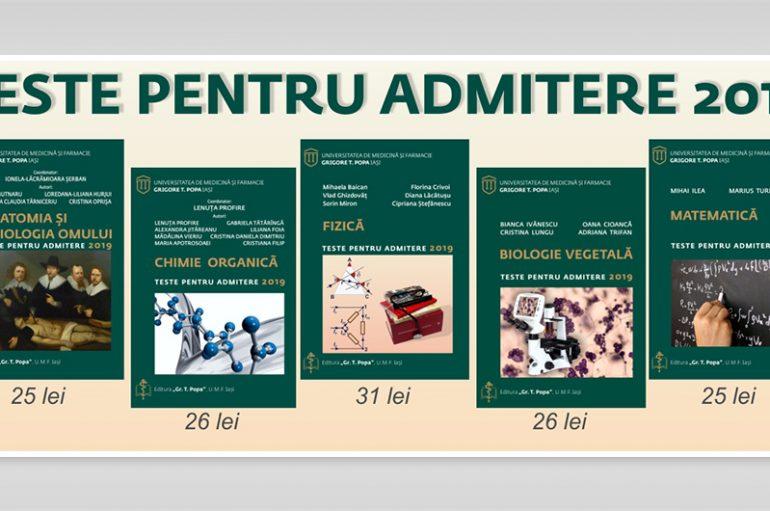 Au fost publicate culegerile de teste pentru Admiterea 2019