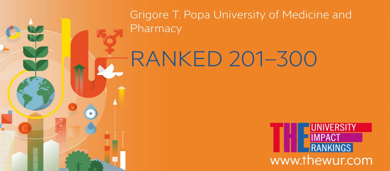 UMF Iași, singura instituţie de învăţământ medical din România în clasamentul  The Times Higher Education University Impact Rankings