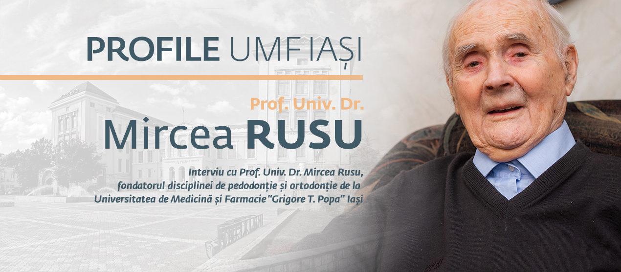 Amintiri în amurgul veacului: Interviu cu prof. univ. dr. Mircea Rusu