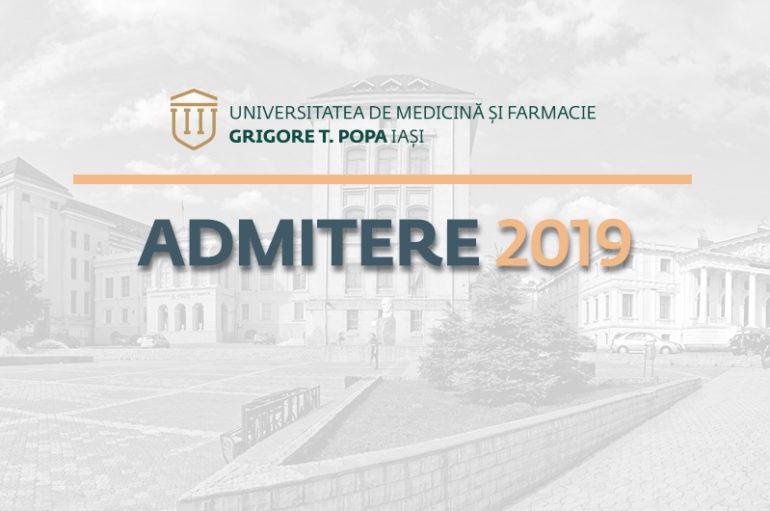 2055 de locuri pentru Admiterea 2019 la UMF Iași