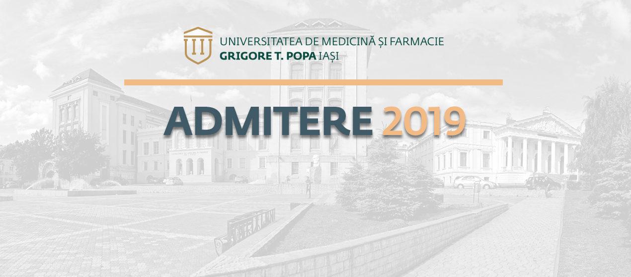 Au început înscrierile pentru concursul  de admitere la UMF Iași – sesiunea iulie 2019