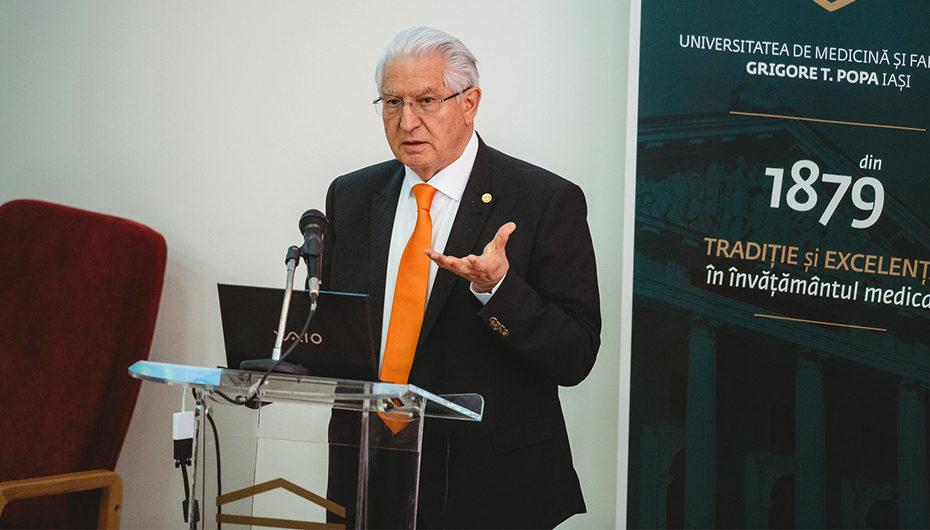 Cunoscutul neurochirurg Alexandru-Vladimir Ciurea a conferențiat la UMF Iași
