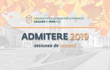 Admiterea din toamnă la UMF Iași