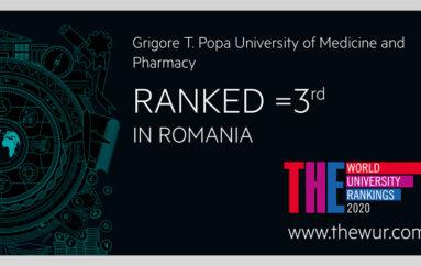 UMF Iași, al treilea an consecutiv în clasamentul internațional al universităților 2020 realizat de Times Higher Education