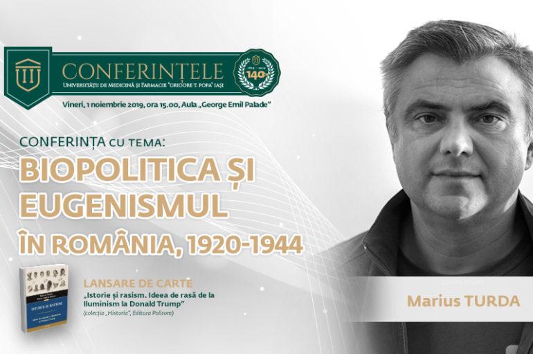 Marius Turda, profesor la Oxford Brookes University, prezent pentru a doua oară la UMF Iași cu o conferință și o lansare de carte