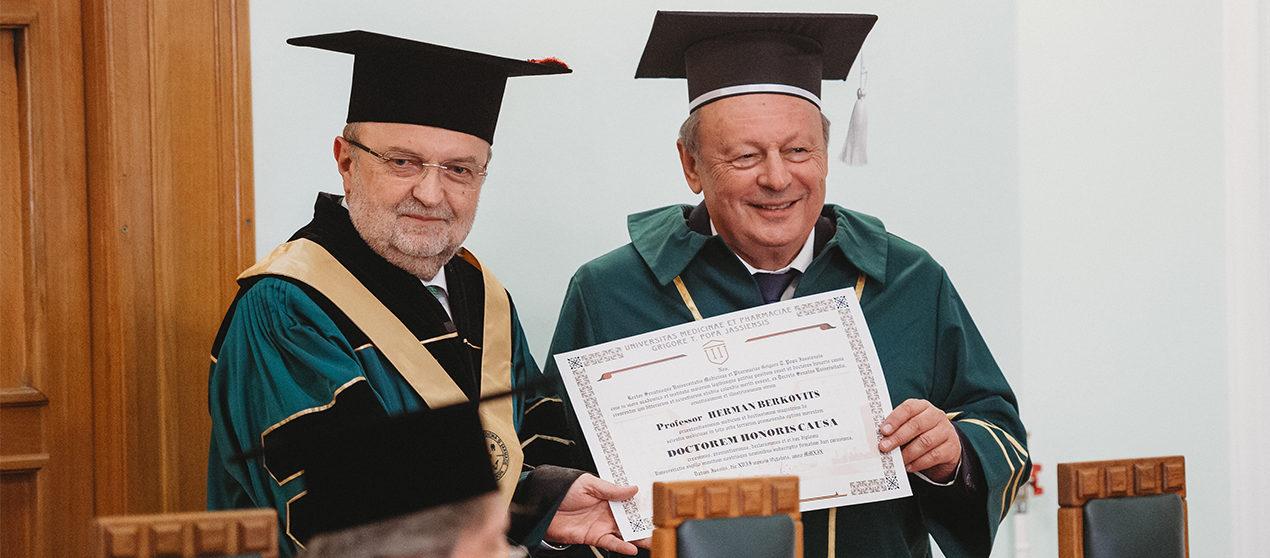 Domnul Dr. Herman Berkovits, Doctor Honoris Causa al UMF Iași