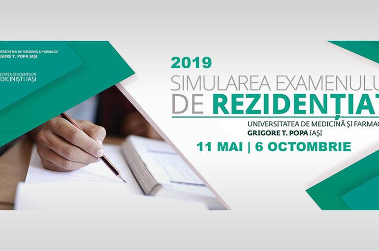 Simularea concursului de rezidențiat: 6 octombrie 2019