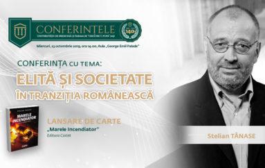 Stelian Tănase își lansează, la UMF Iași, cel mai recent roman