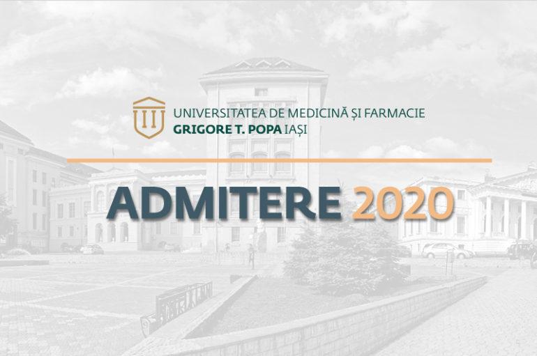 Metodologia de admitere pentru anul universitar 2020/2021