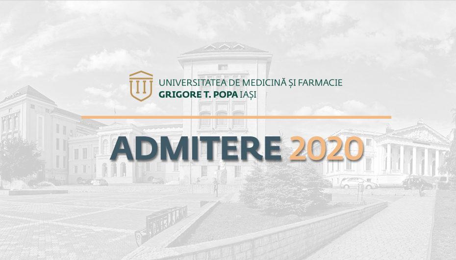 Simularea concursului de admitere la UMF Iași (7 martie și 10 mai)