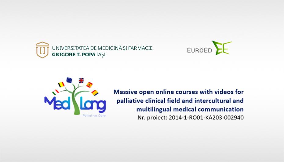 Cursuri online pe suport video in domeniul ingrijirii paliative ai comunicarii medicale