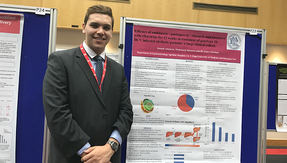 Un student în anul VI la UMF Iași a câștigat premiul I la International Conference for Healthcare and Medical Students din Irlanda