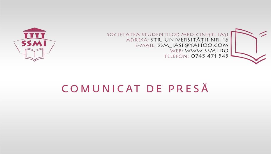 SSMI | Comunicat de presă