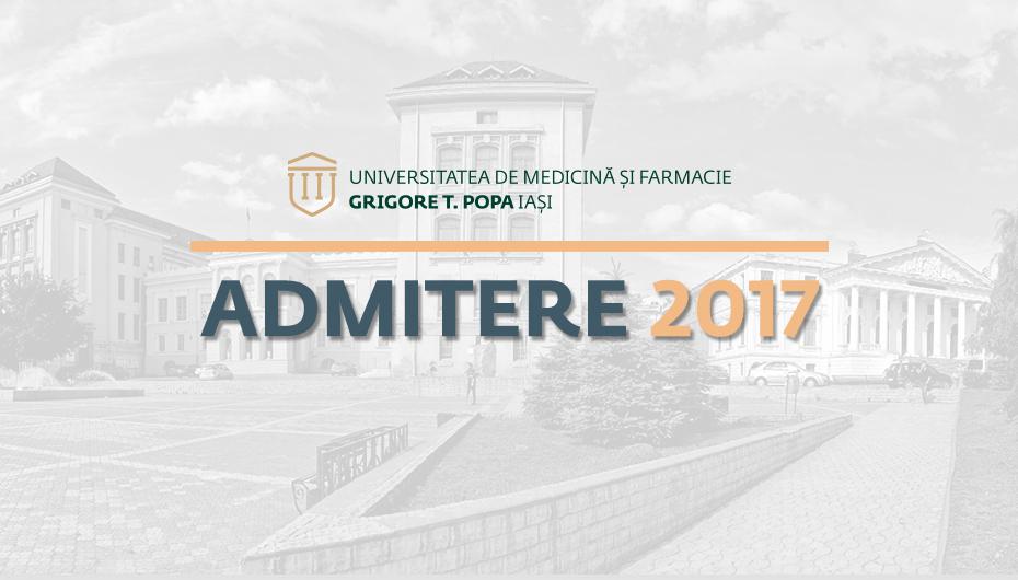 Situația înscrierilor pentru concursul de admitere la UMF Iași, în prima zi