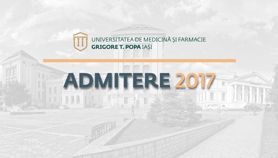 ADMITERE 2017 la UMF Iasi: cu 21% mai mulți candidați față de 2016. A 2-a sesiune de admitere în septembrie