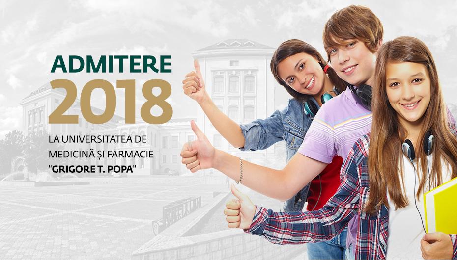 Totul despre Admiterea 2018 la UMF Iași
