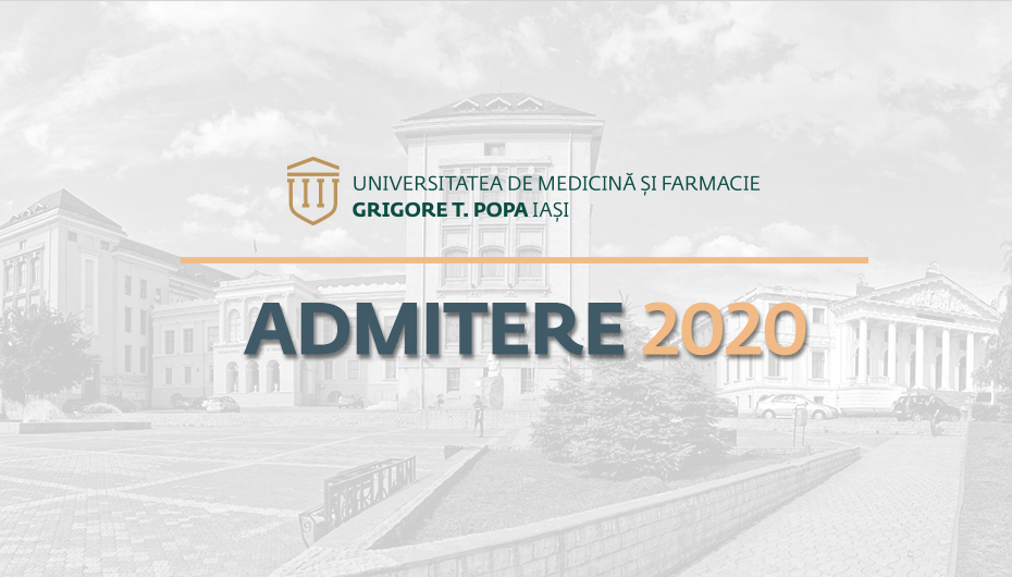 Rezultatele concursului de admitere la UMF Iași, sesiunea iulie 2020