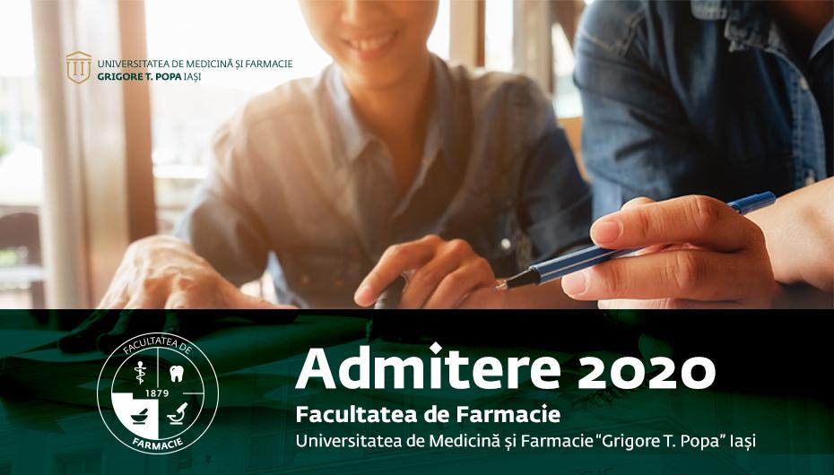 Facultatea de Farmacie: cursuri gratuite pentru candidații la Admiterea 2020
