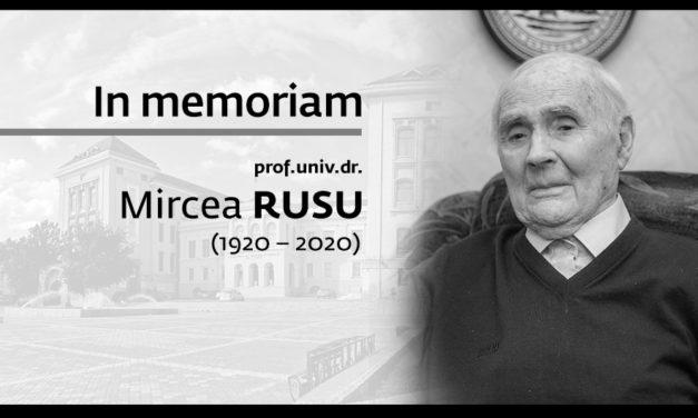 In memoriam prof. univ. dr. Mircea Rusu (1920 – 2020)